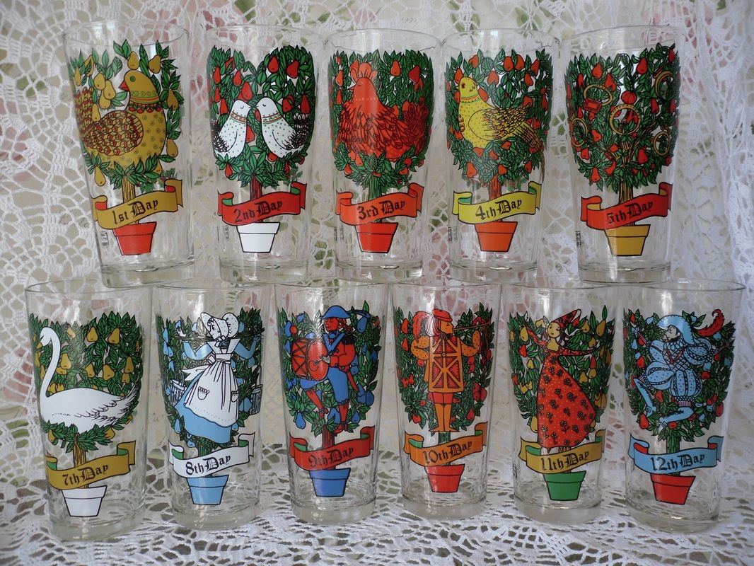 twelve days of christmas glasses 12 days of christmas advertising glasses by pepsi and taco bell item