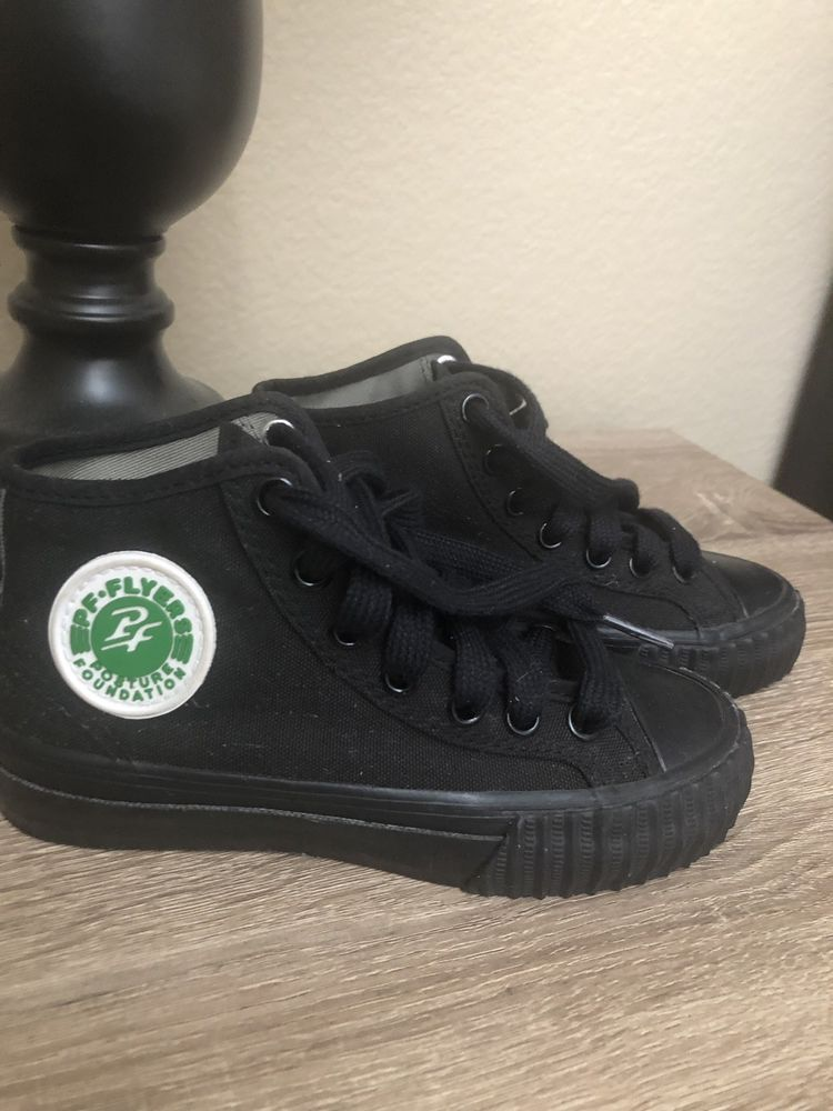 a4522527f146c Boys PF Flyers hi-top Sneakers Size 13.5 Black/Black NWOB #fashion ...