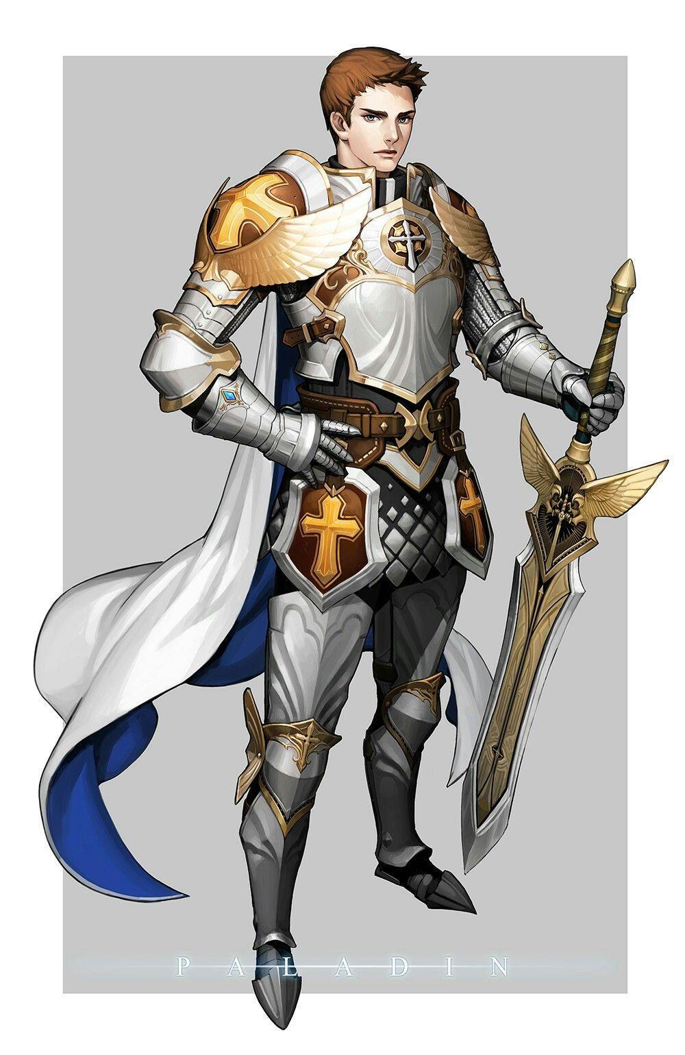 Human Paladin - Pathfinder PFRPG DND D&D d20 fantasy   Paladin, Fantasy heroes, Fantasy warrior