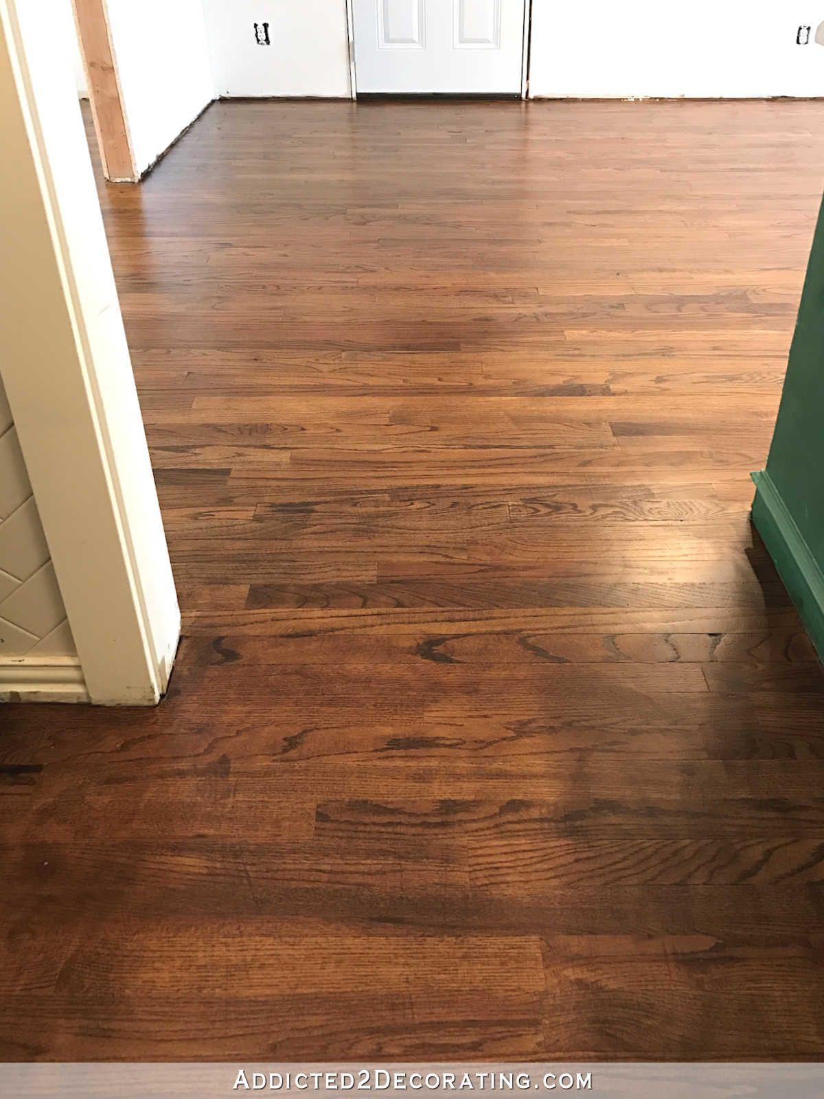 My Newly Refinished Red Oak Hardwood Floors Laminate