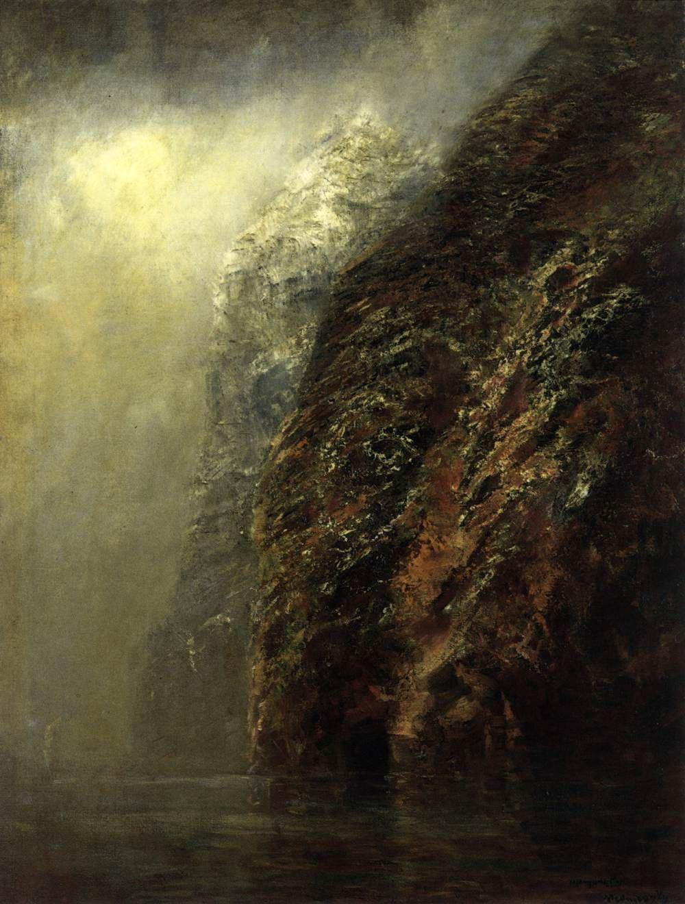 """László Mednyánszky - """"View of Dunajec"""" 1890-95, Oil on canvas, 98 x 73 cm, Magyar Nemzeti Galéria, Budapest"""