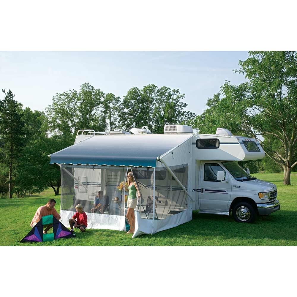 Turn your manual or power RV awning into a comfortable screened-in enclosure that protects you from flying insects and provides extra living space. Fast, easy set-up with no tools needed after initial installation.