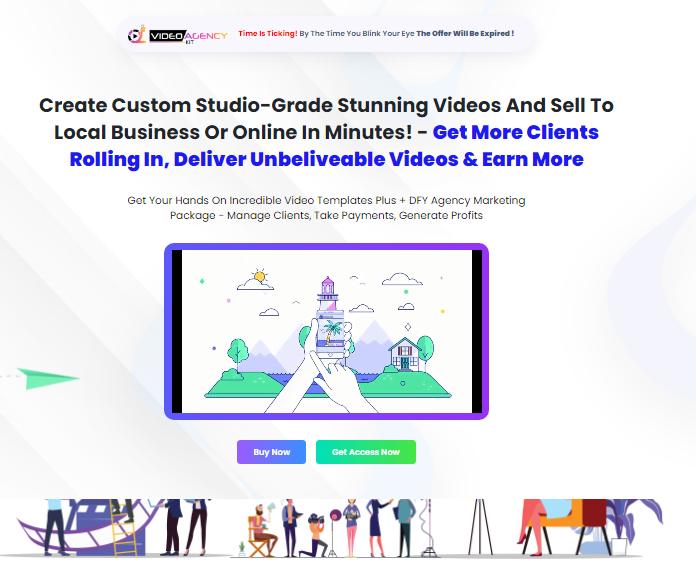 Video Agency Kit Templates Review Oto 1 Oto 2 Both Oto Video Agency Video Marketing Templates