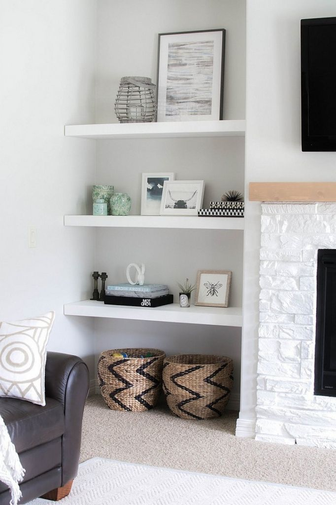 Innenarchitektur : Kühles Wohnzimmer Regal Dekorieren ...