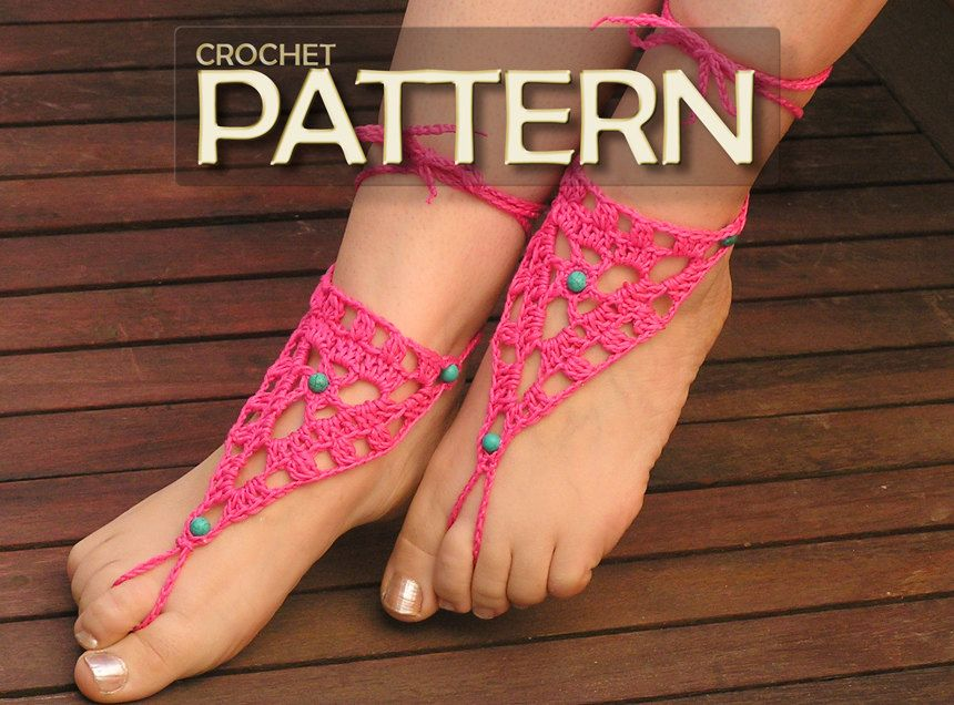 Barefood Sandal Crochet Pattern! These would be perfect for summer.