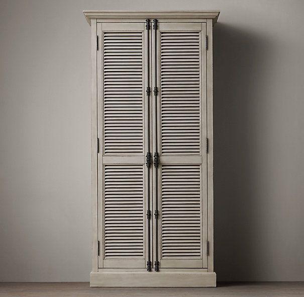 Shutter Double-Door Cabinet | Furniture | Pinterest | Restoration ...