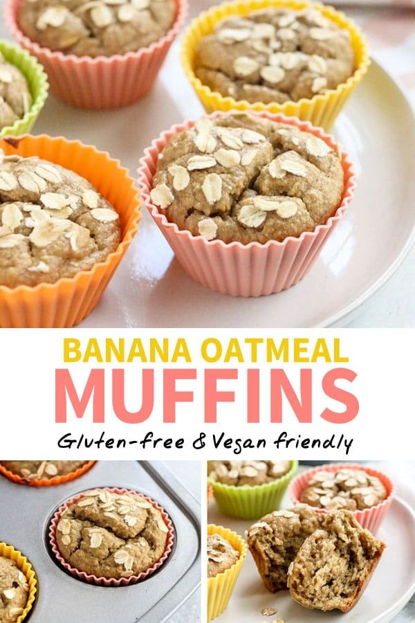 Banana Oatmeal Muffins (No Flour Needed!) images