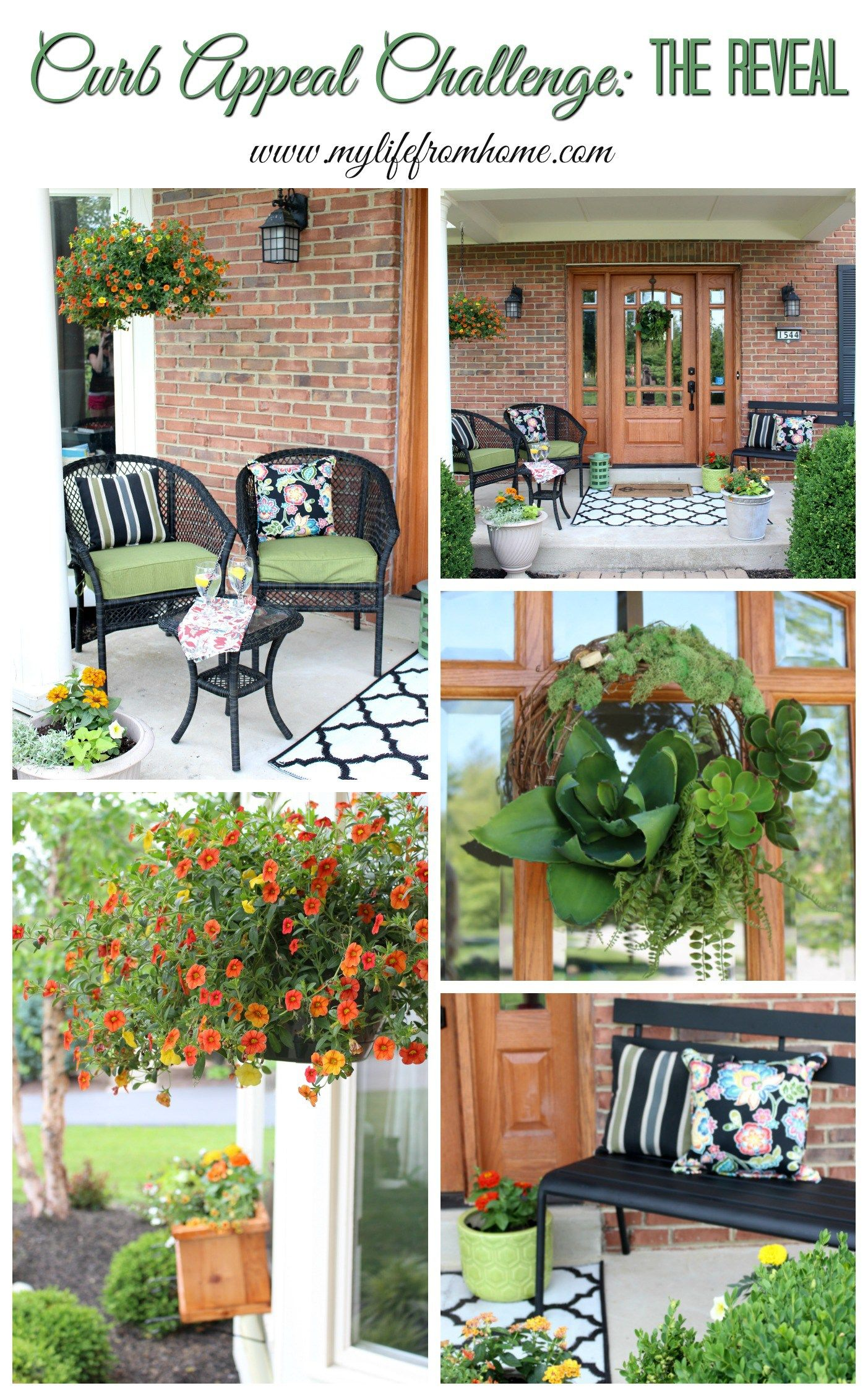 Landscaping ideas for front yard with porch  Design challenge to give my house much needed Curb Appeal Come see