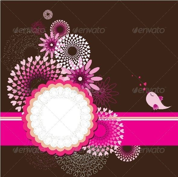Greeting Card Template with Floral Background Fonts-logos-icons - greeting card template