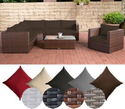 Poly-Rattan Lounge Set TIBERA, mit XXL Stauraum (2 x 2er Sofa + - gartenmobel polyrattan eckbank