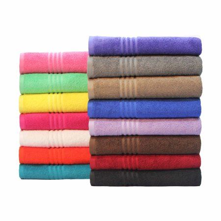 Mainstays Essential True Colors Bath Towel Collection Purple