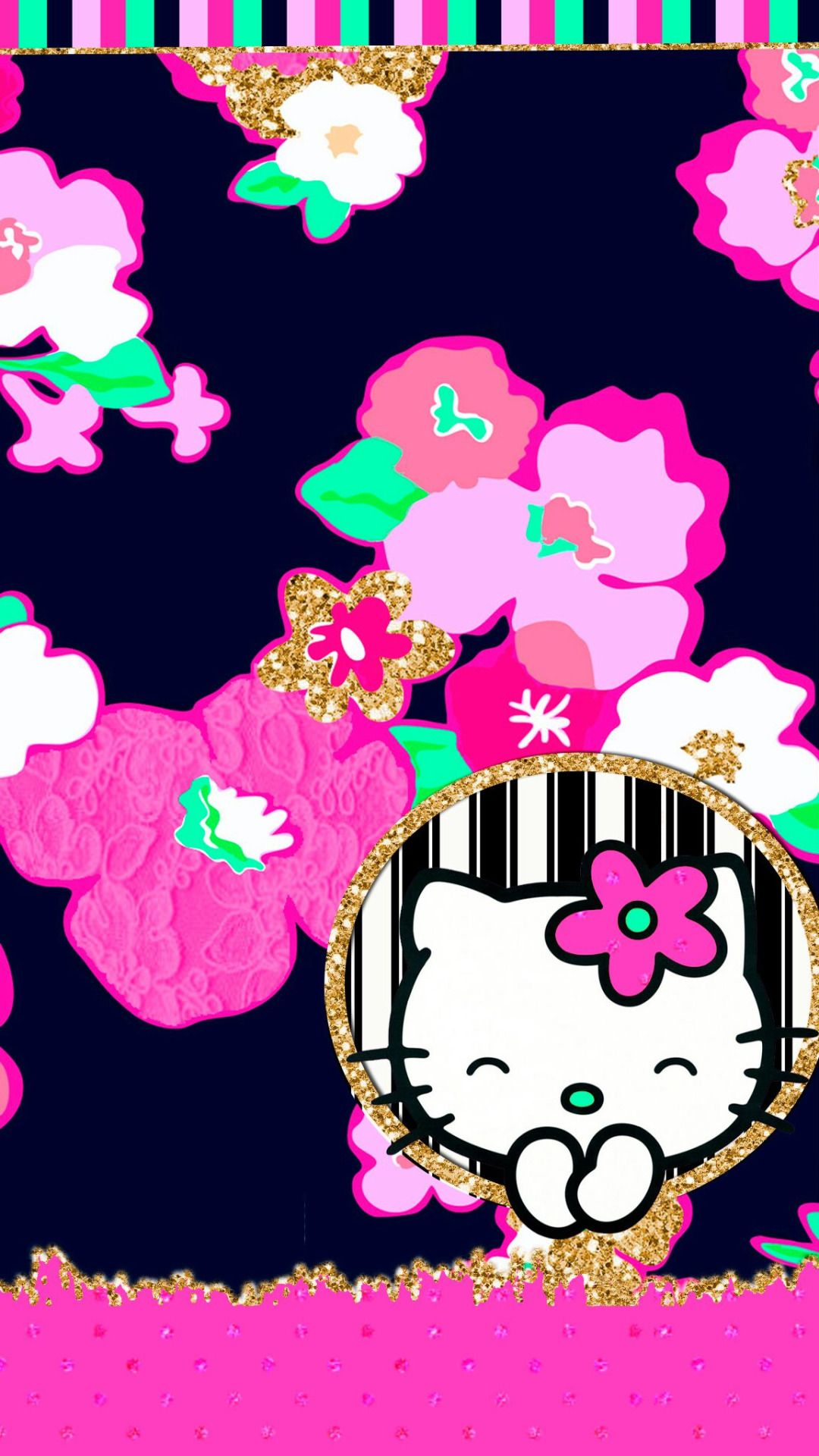 Fantastic Wallpaper Hello Kitty Floral - 14020b590419e3372618cd1186ed7ac2  Picture_856276.jpg