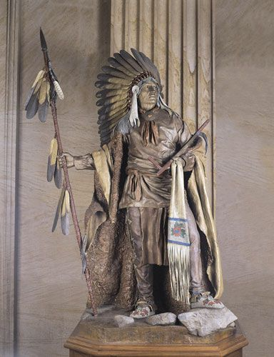 Chief Washakie by Dave McGary Located in the U.S. Capitol National Statuary Hall in Washington D.C.