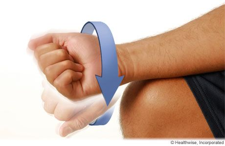 Warm-up exercises for tennis elbow