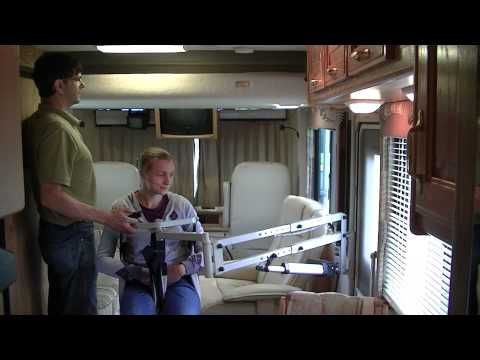 multi-lift handicap disability patient transfer lift in motor home