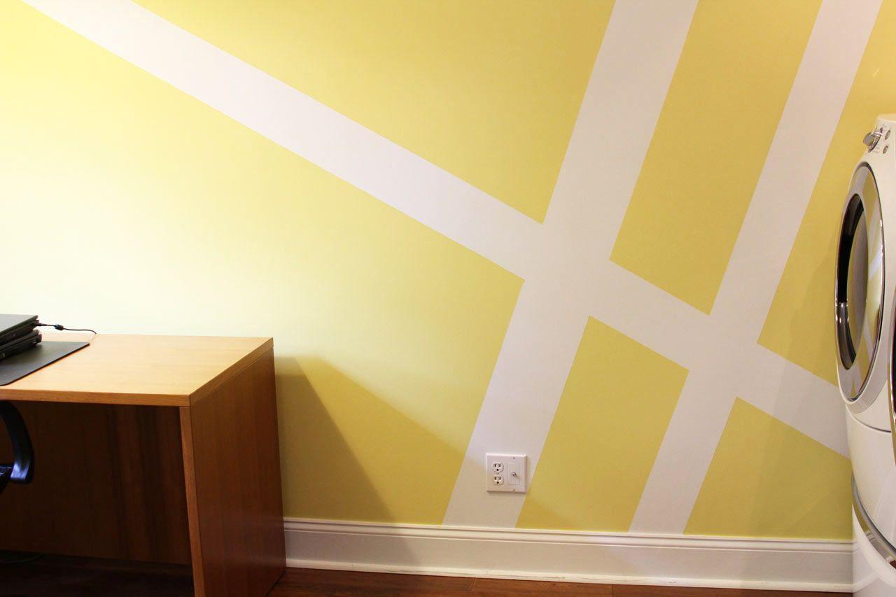 laundry-room-paint-stripes-makeover | DIY | Pinterest | Geometric ...