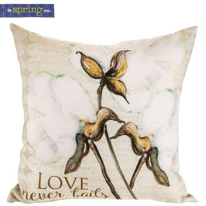 1 Corinthians 13 8 Pillow With Cotton Pillows Wood Wall Decor Spring Shopping