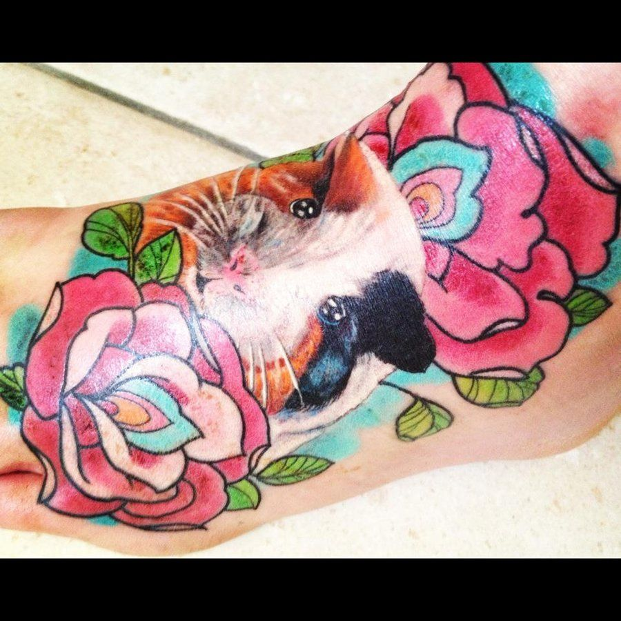 Guinea pig tattoo by love it for Pig skin tattoo