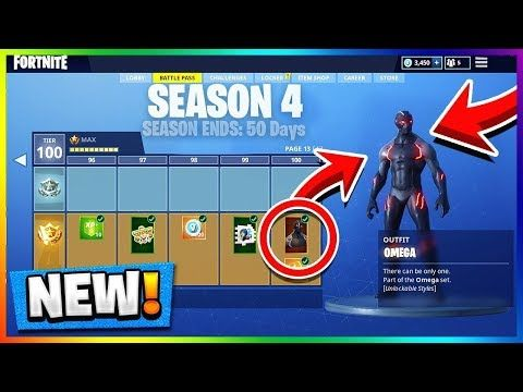 Season 4 Battle Pass Tier 100 Unlocked All Fortnite Skins Update