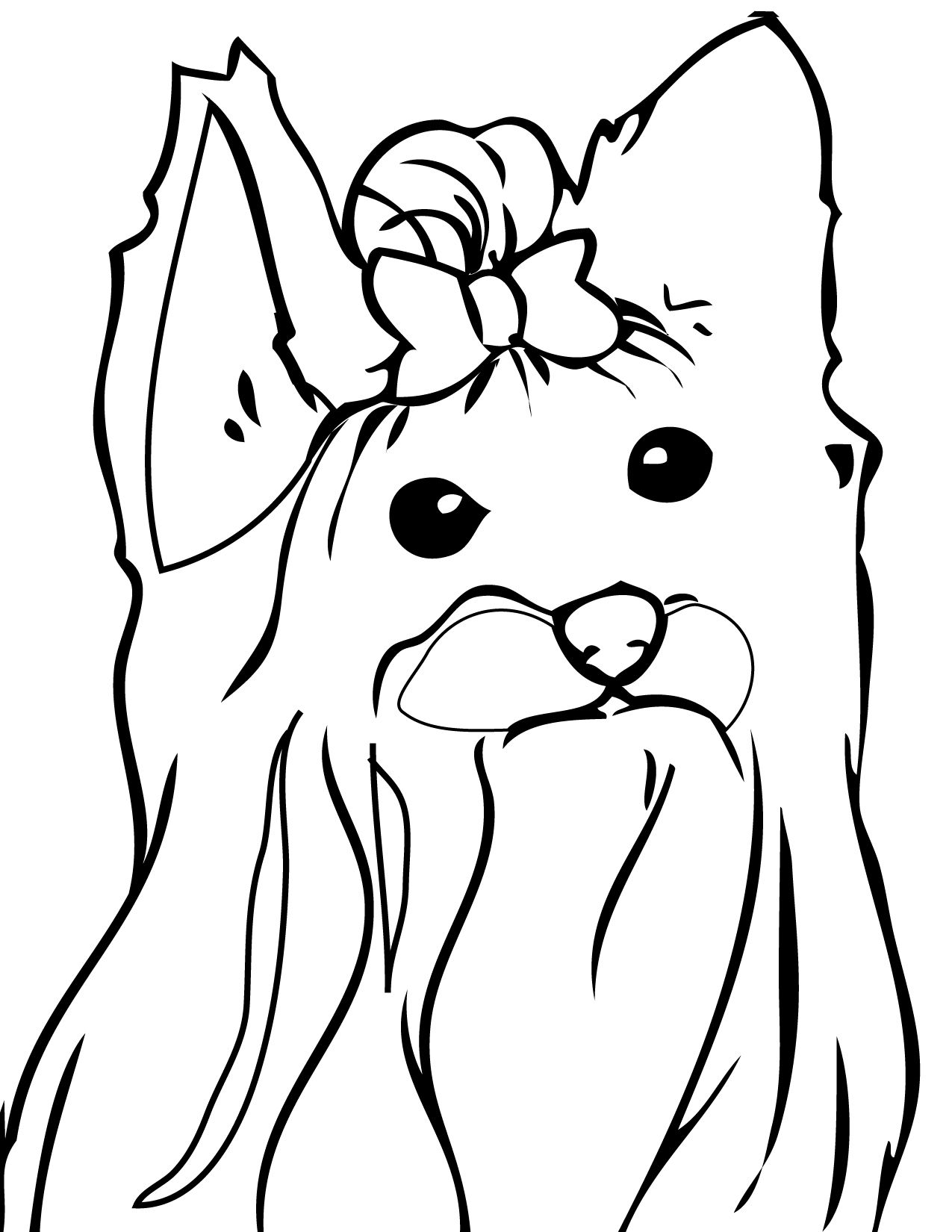 Print This Page Dogs Coloring Pages Coloring Pages Yorkie