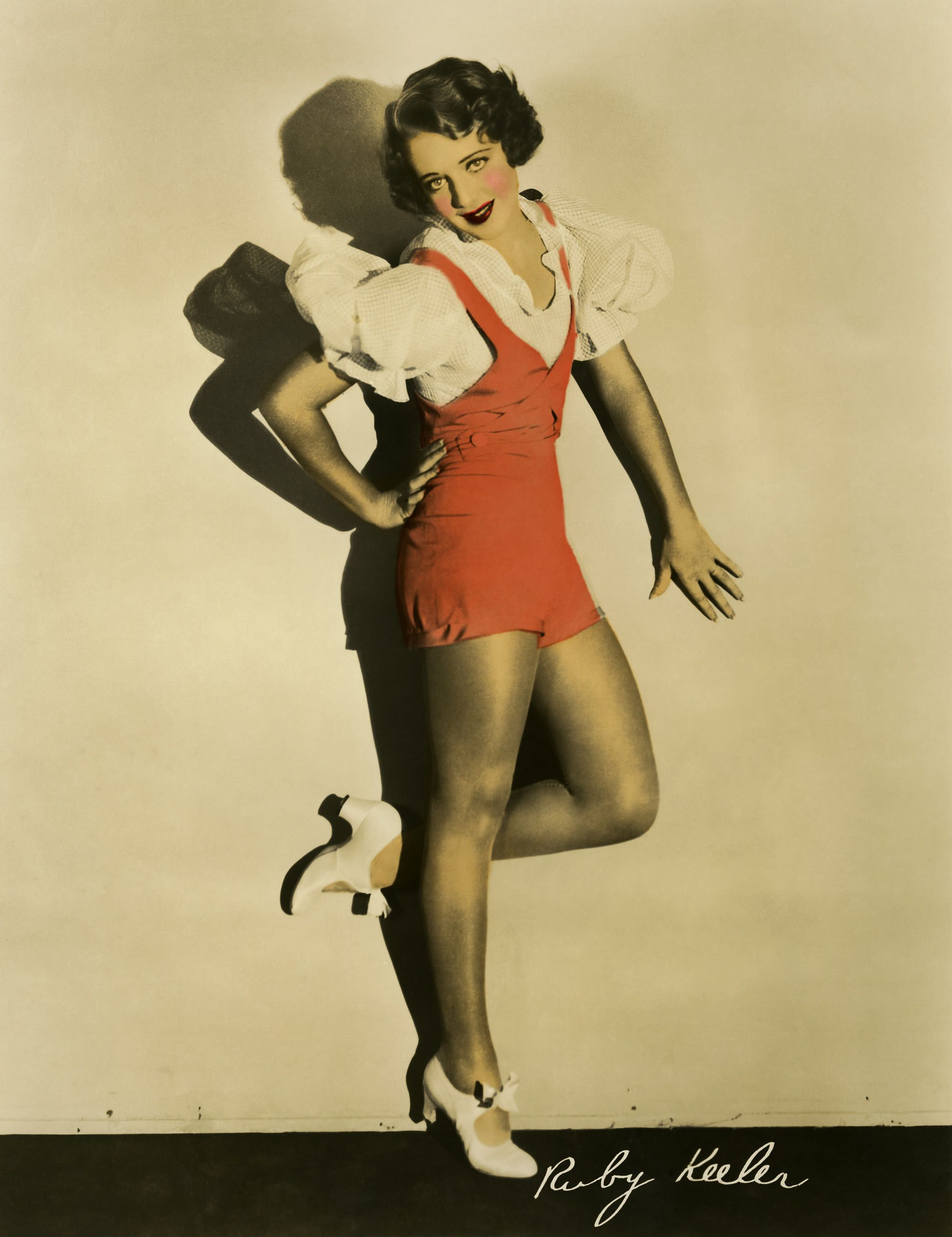 Ruby Keeler, 1930's blouse and shorts in color!