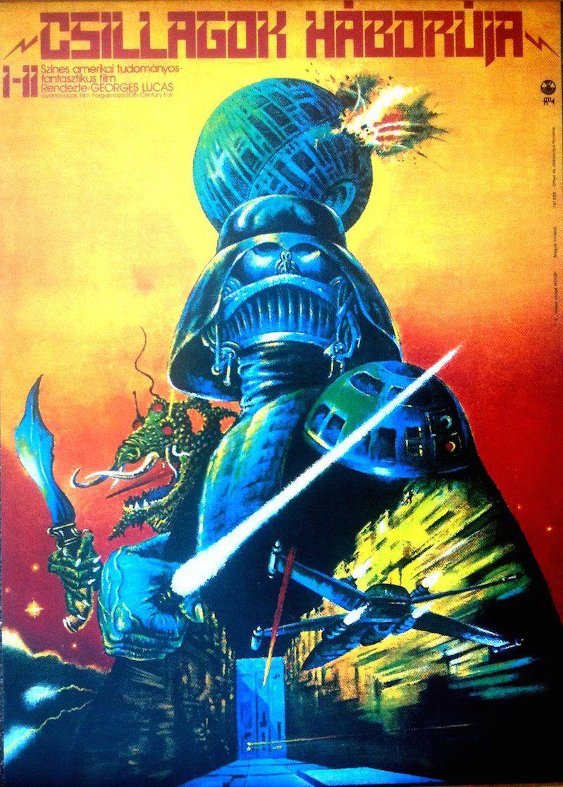 Trippy Cold War Era Hungarian Star Wars Movie Posters Star Wars