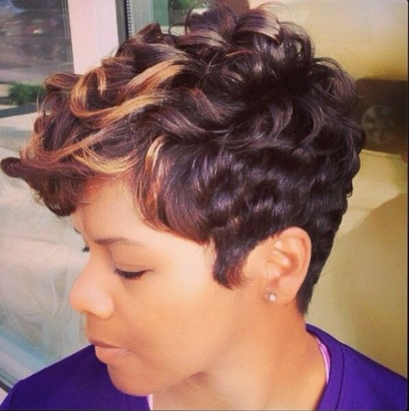 Like The River Salon | Curly pixie cut by Najah Aziz | Specialties ...