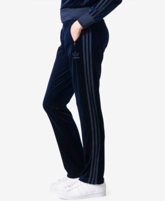 e51e97801b8 adidas Originals Firebird Velvet Track Pants - Blue XS | Products ...