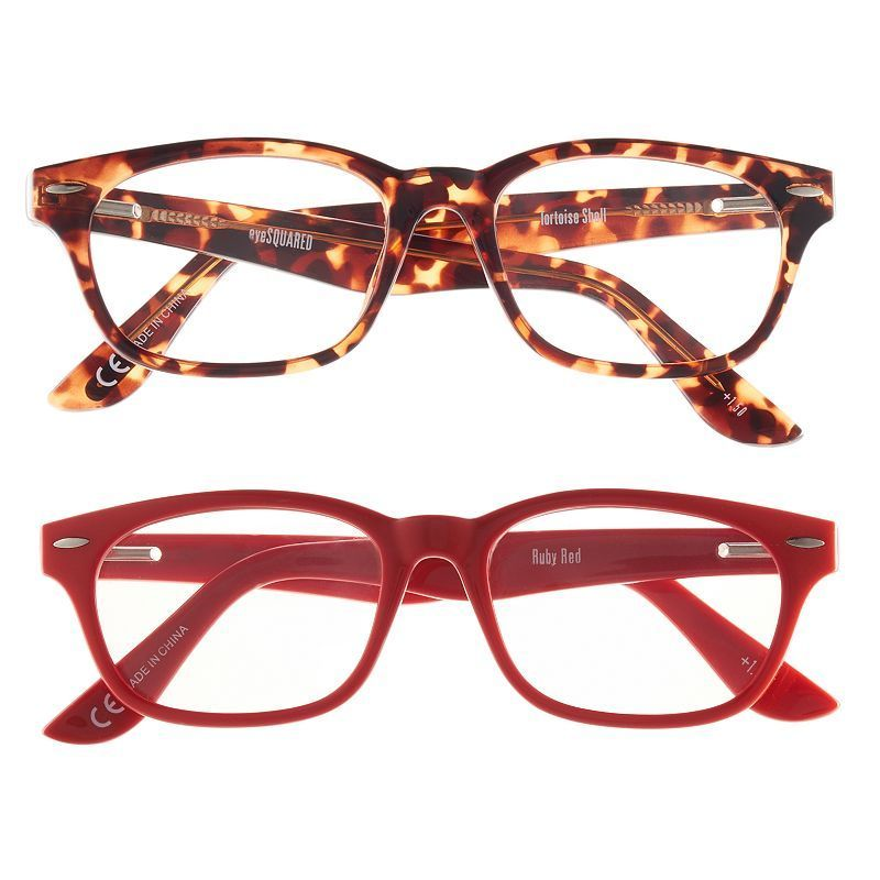 eyeSQUARE 2-Pr. Square Reading Glasses - Red, Tortoise | Products ...