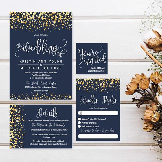 Affordable Wedding Invitation Suite Diy Wedding Invitations Etsy Wedding Invitation Suite Diy Affordable Wedding Invitations Inexpensive Wedding Invitations