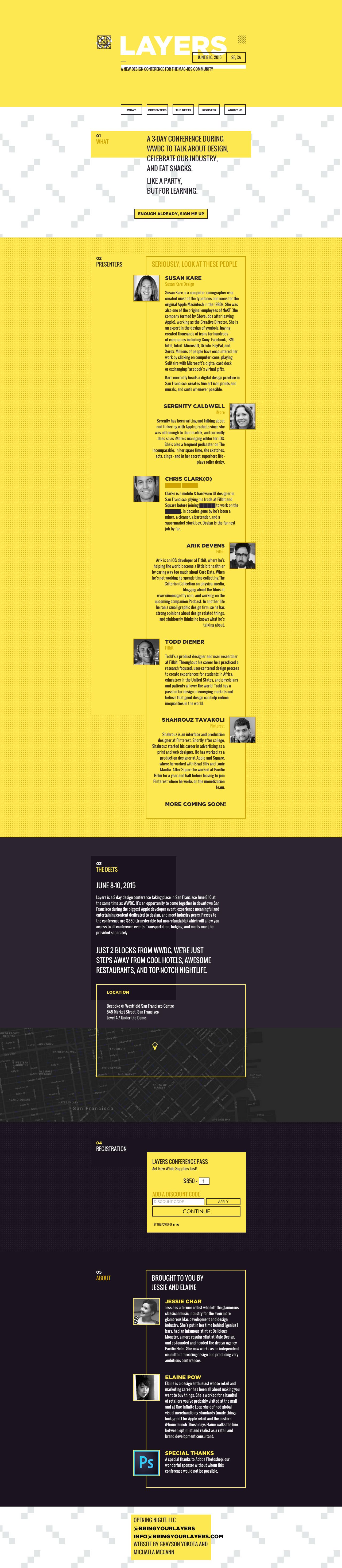 Layers Interactive Web Design Conference Design One Page Website