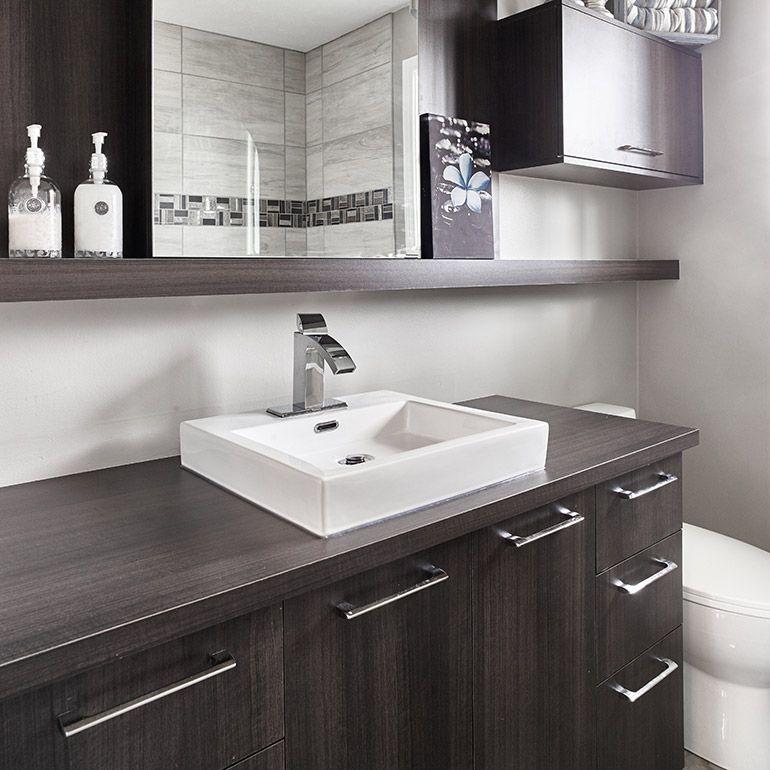 Cuisines beauregard salle de bain style contemporain Stratifie pour salle de bain