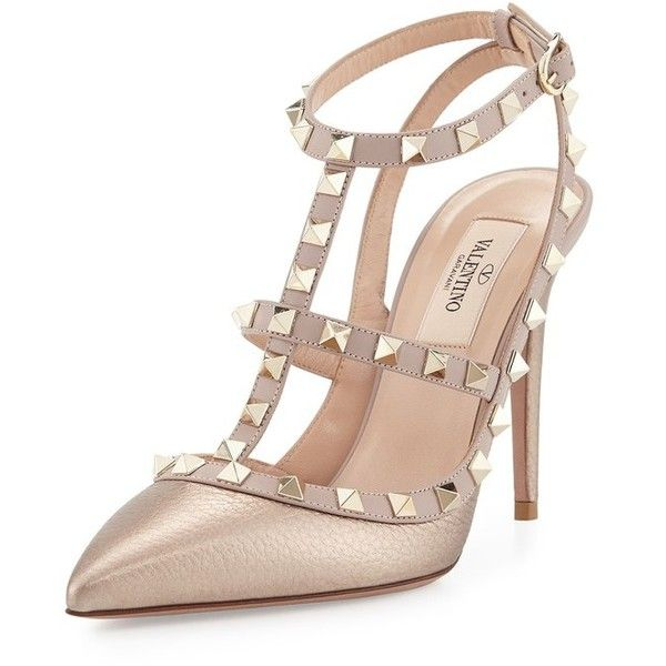 Valentino Metallic Pointed-Toe Pumps free shipping 2015 new footlocker pictures cheap price visit sale online pre order online cheap clearance store DhA1w8m