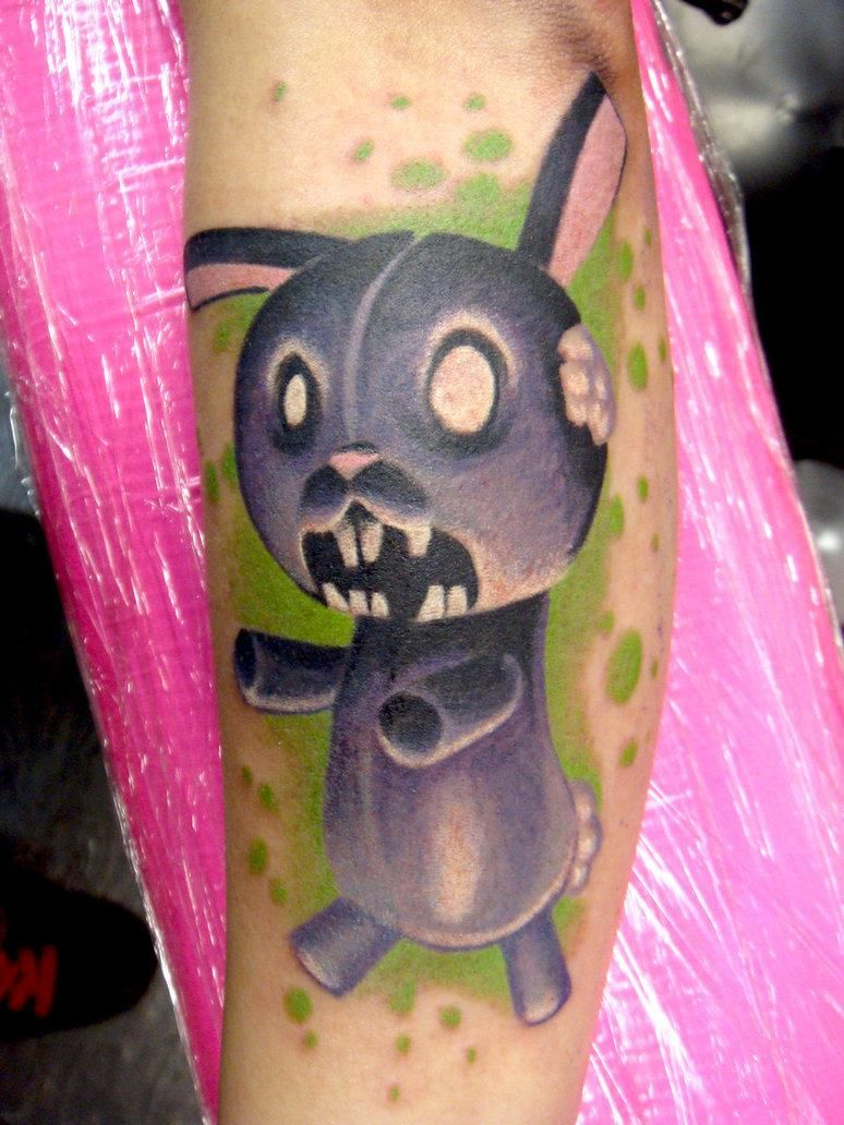 Pin by kilow one on macabre tattoo art evil bunny weird