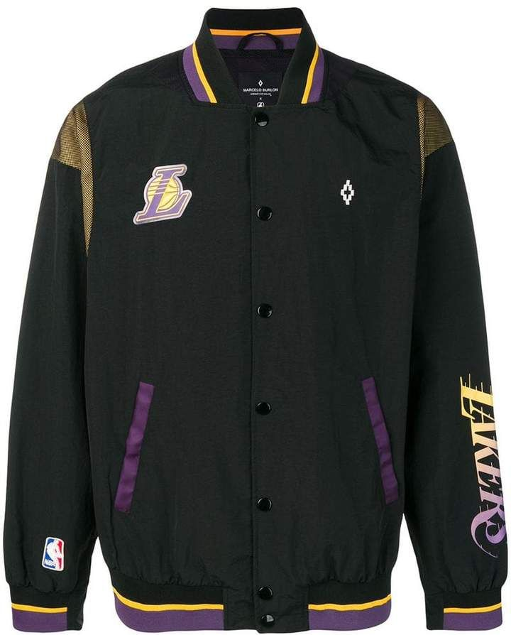 1e10d91c Marcelo Burlon County of Milan X NBA LA Lakers bomber jacket Lakers Jacket,  Black Bomber