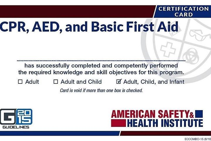 Basic Adult Pediatric Cpr Aed And First Aid Class 35 Cpr