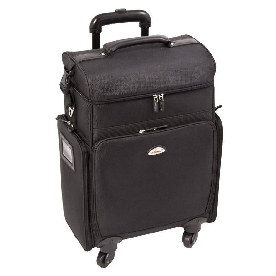 Sunrise All Black Professional Carry-on Rolling Makeup Case by ...