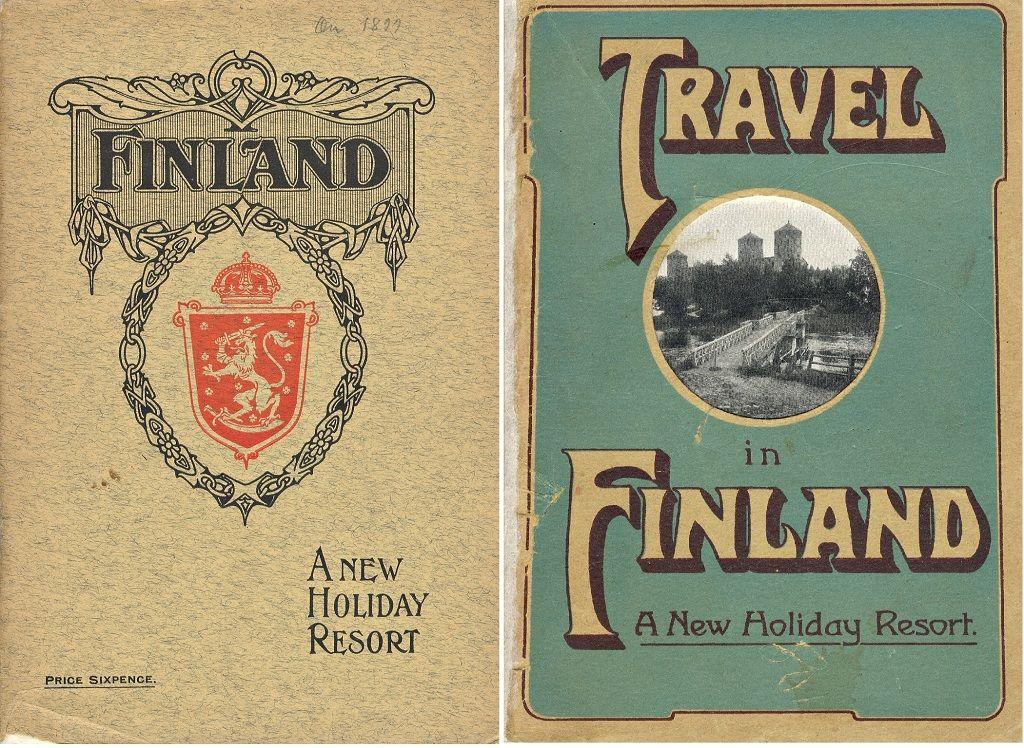 Suomen Matkailijayhdistyksen opaskirjasia 1910-luvun vaihteesta.