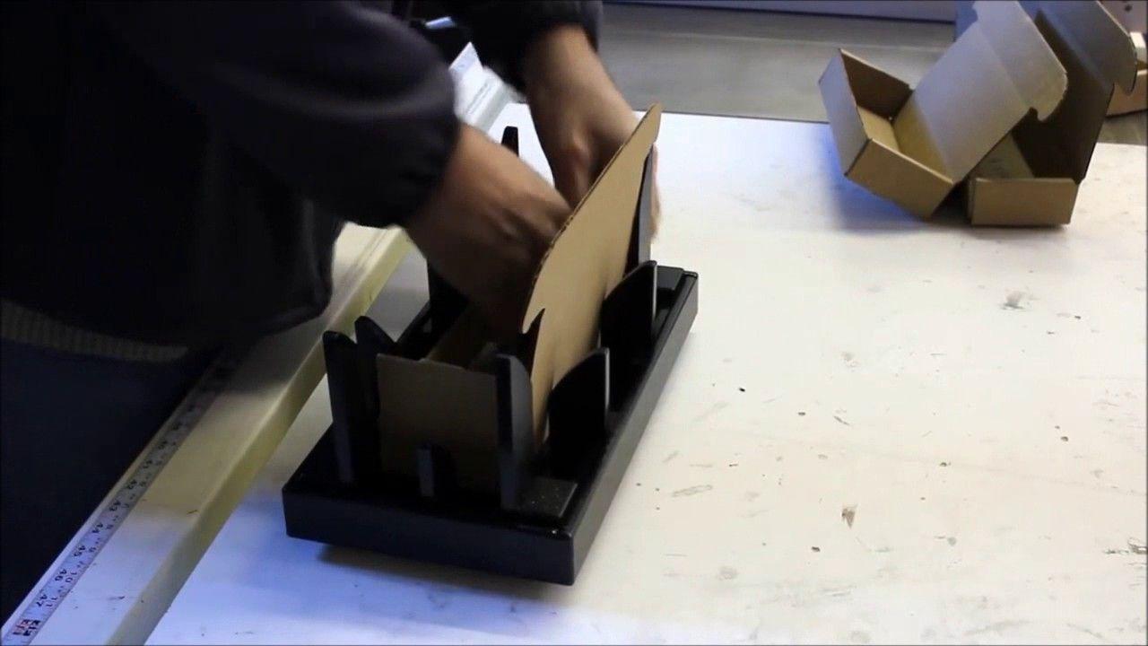 Easy Fold Corrugated Cardboard Box Mailer Folding Fixture