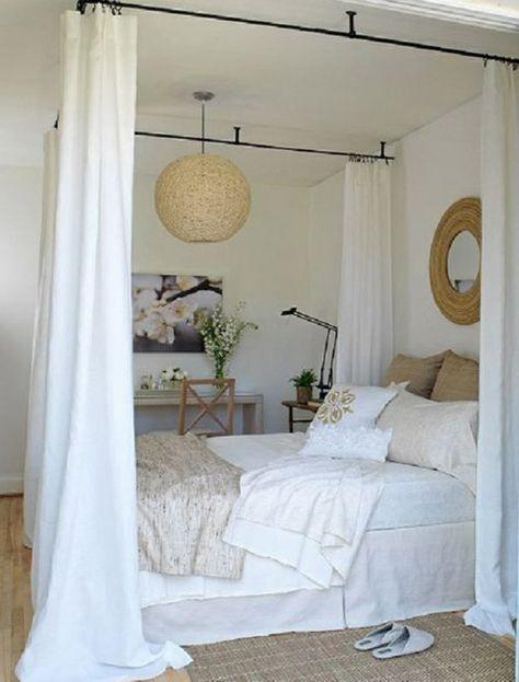 33 erstaunliche wei e himmelbett designs f r ihr. Black Bedroom Furniture Sets. Home Design Ideas