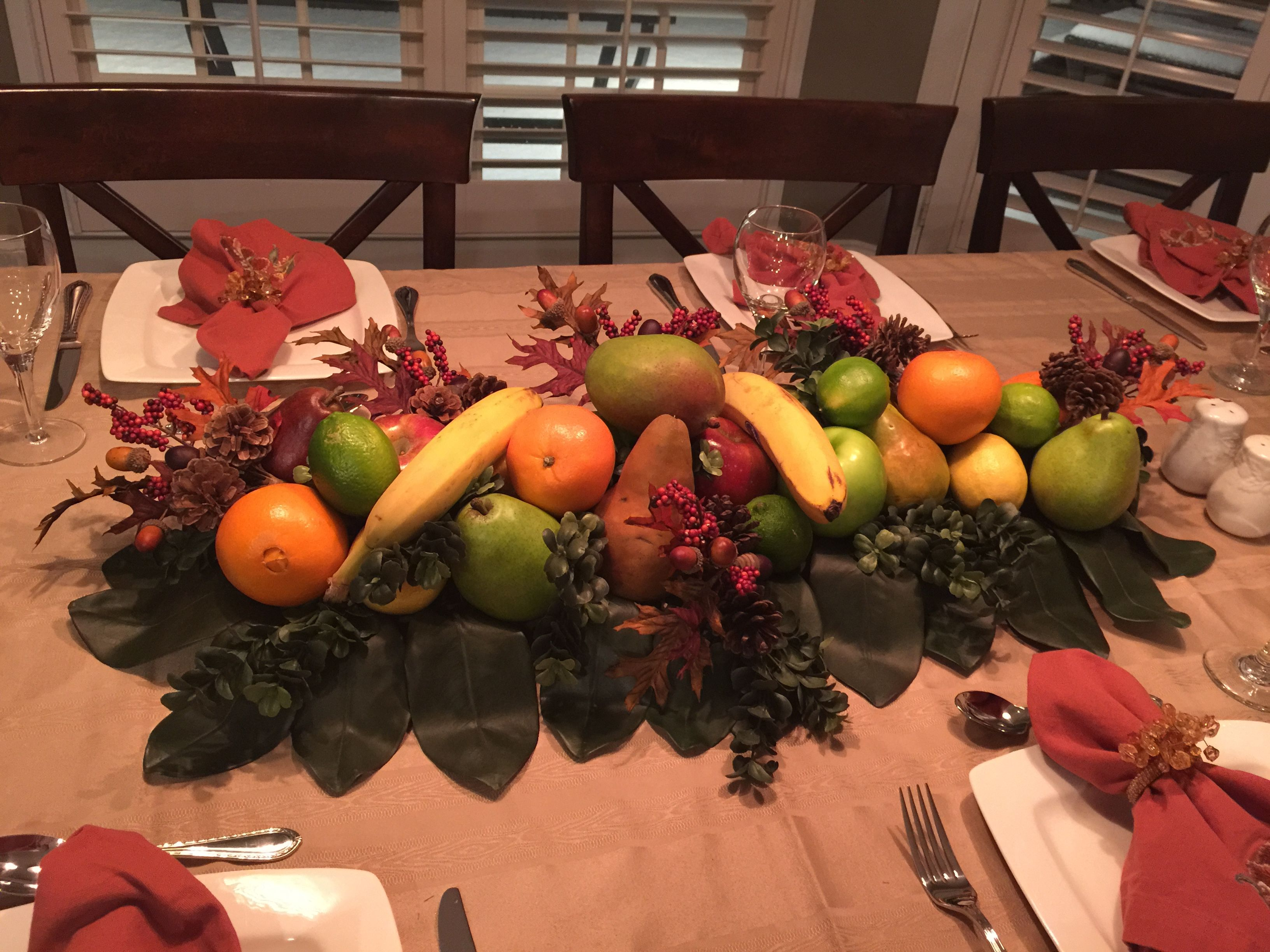 Thanksgiving Fruit Centerpiece Table Decor