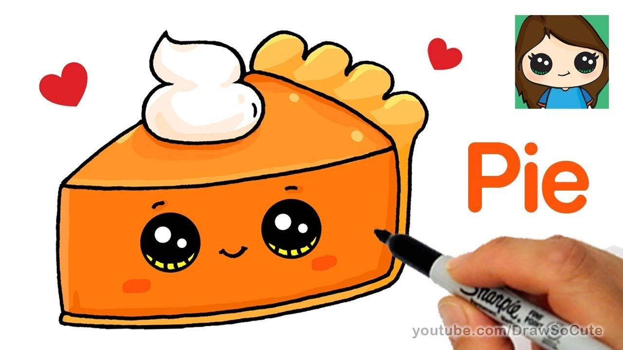 How To Draw A Slice Of Pie Cute And Easy Cute Food Drawings