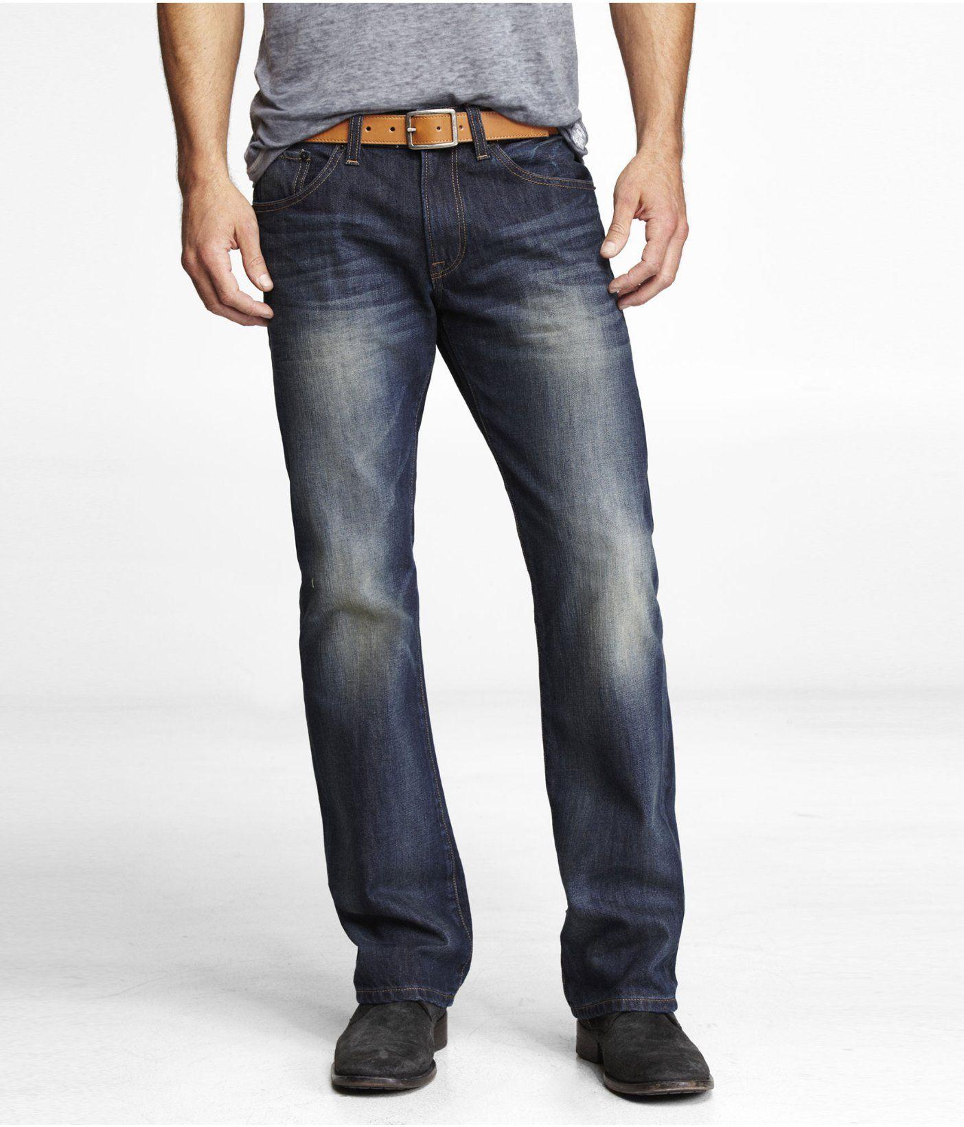 d30b5bd7cc65 ROCCO SLIM FIT BOOT CUT JEAN | Express | Men's Clothing I love (on ...