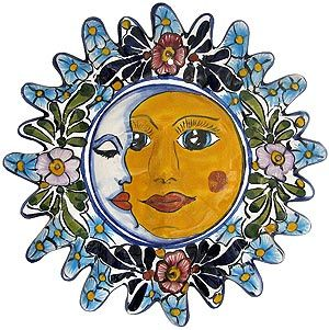 Revamp your decor in any room by adding beautifully handcrafted Talavera wall art. The eye-popping colors and decorations will make a perfect addition to any home. Each piece is handmade of clay and hand-painted by skilled Mexican artisans in Puebla.  As they are hand-painted, colors and artistic style may vary.  An eyelet located on the back of each eclipse makes the Talavera wall art perfect for hanging.