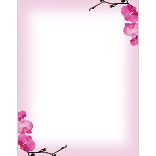Pink Orchids Letterhead Hawaiian Wedding Ideas