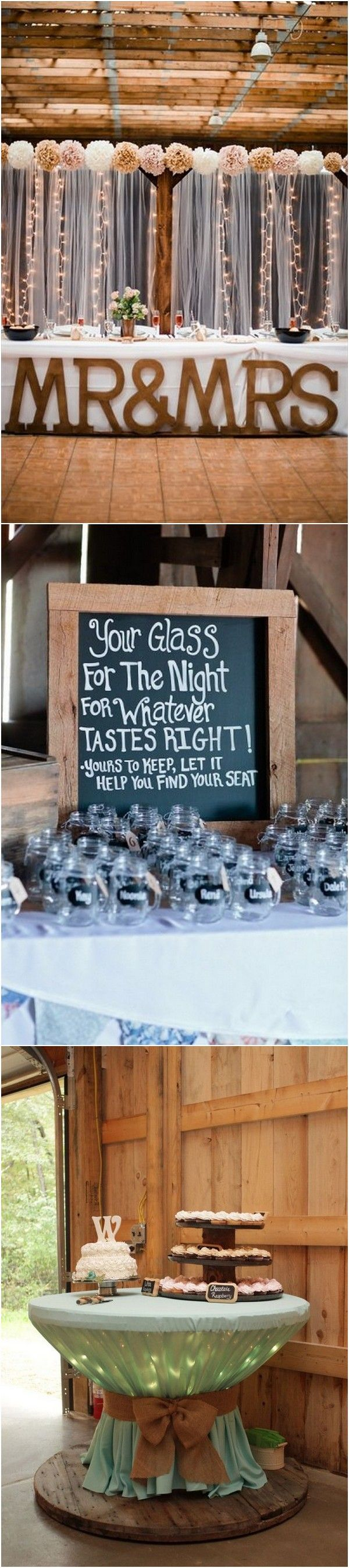 Barn wedding decoration ideas   Perfect Country Rustic Barn Wedding Decoration Ideas  Page  of