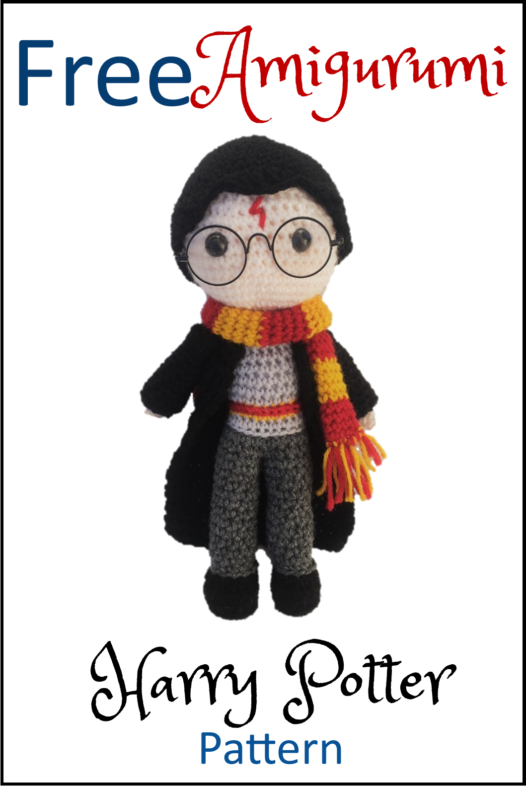 Free Crochet Amigurumi Pattern for Harry Potter! He\'s super cute and ...
