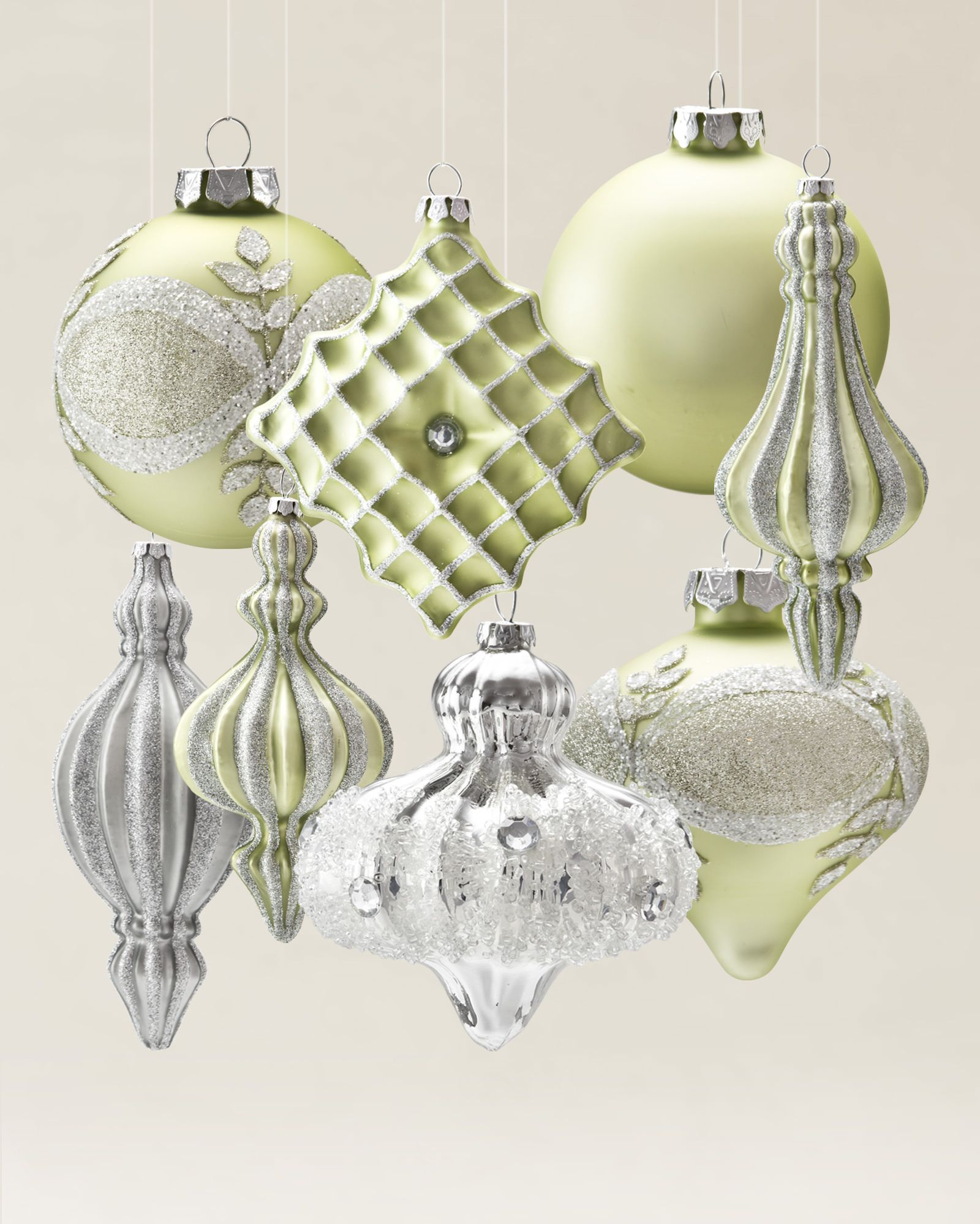 Each ornament from the sparkle and snowflake collection has a bring charm into your holiday decor when you hang this exquisite hand painted ornaments from balsam hills sparkle and snowflake ornament set arubaitofo Gallery