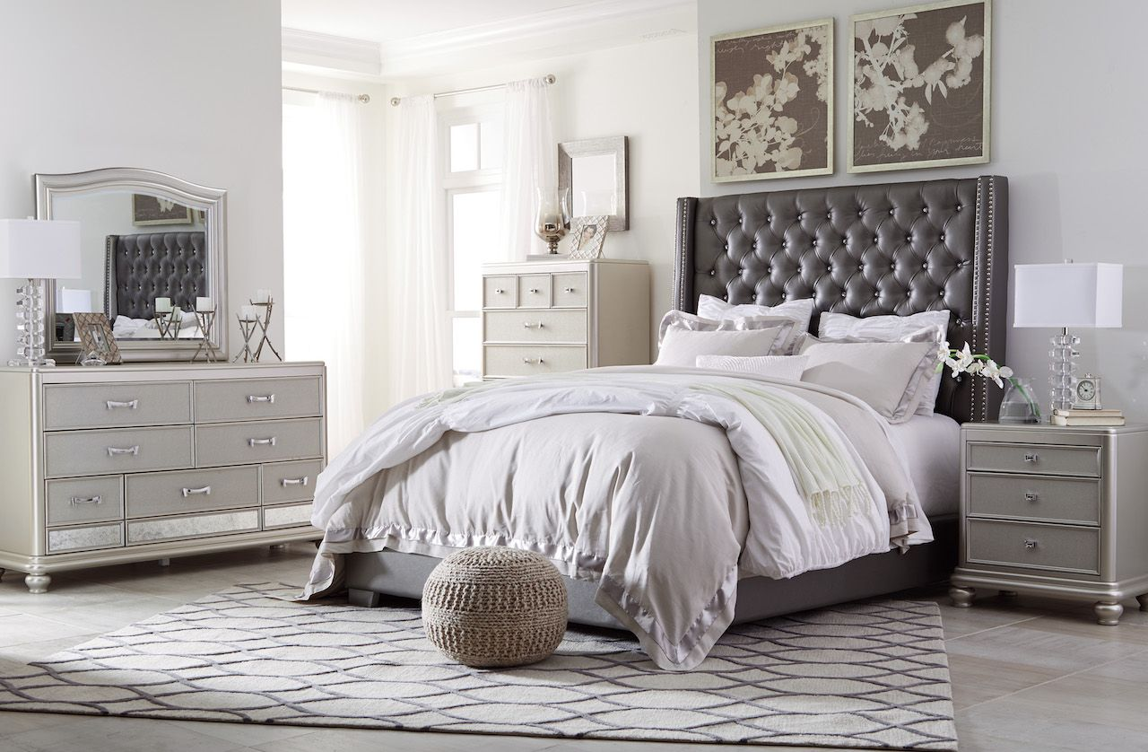 Best Ashley Coralayne B650 Upholstered Bed Bedroom Set 400 x 300