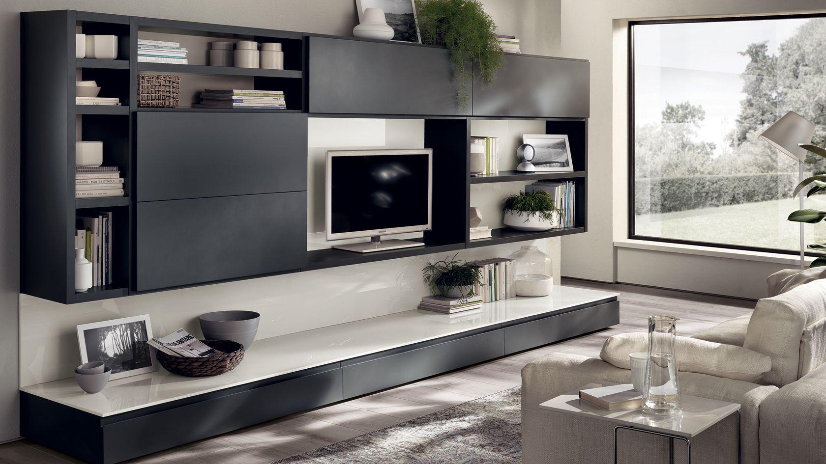 Living Living Motus Scavolini Living Room Wall Units Grey Walls Living Room Wall Unit Decor